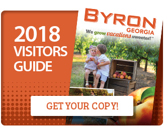 Byron Georgia Visitors guide with button to request a copy
