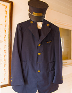 Old uniform artifact in the Old Jail Museum of Byron Georgia